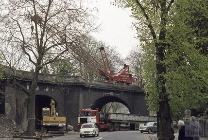 Railway Bridge, Pulteney Road, 1974