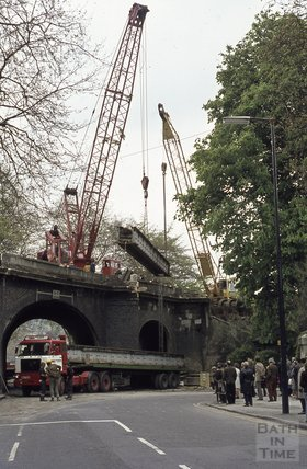 Railway Bridge, Pulteney Road, 1974