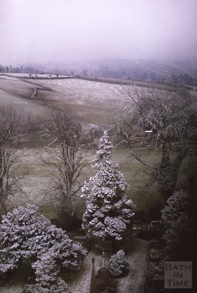 View from Beckford's Tower looking southwest, Lansdown, 1975