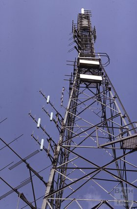 Hampton Down, TV mast, 1975