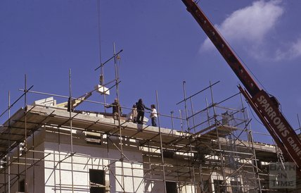 Work at St John's Hospital, Westgate Buildings, Bath, 1975