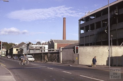 Bath gasworks, Upper Bristol Road, 1975