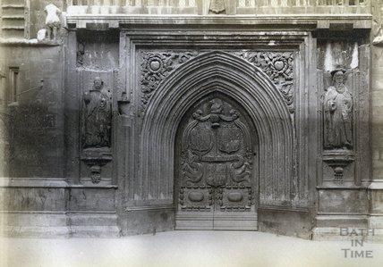 The West Door, Bath Abbey c.1890