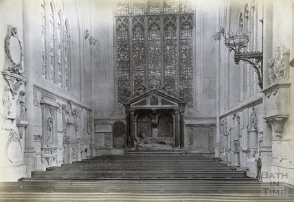 Lady Waller's Monument, South Transept, Bath Abbey c.1890