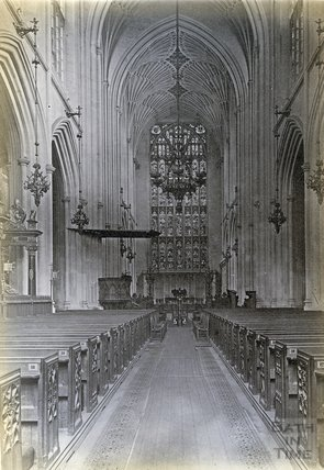 Bath Abbey, Nave East c.1890