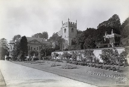 Widcombe Manor, Gardens and Church, c.1890