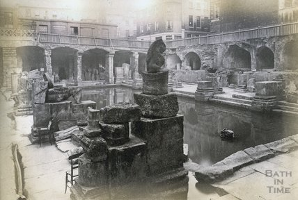 The recently discovered Roman Great Bath, 8 October 1890