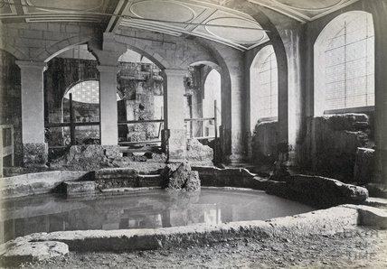 Circular Roman Baths c.1890