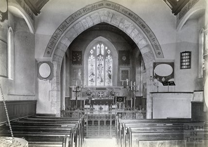 Charlcombe Church, Interior c.1890