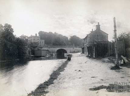 The Kennet and Avon Canal, Bathwick, Bath c.1880-1890