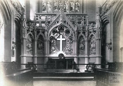 St Saviour's Church interior, Larkhall, Bath c.1880s - 1890s