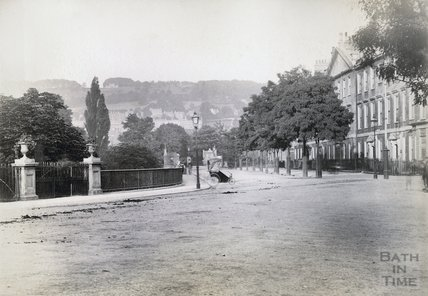 Looking East from North Parade c.1890