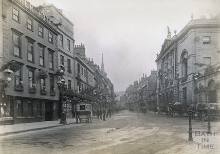 High Street, Bath and Guildhall, c.1880s - 1890s