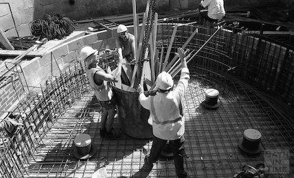 The renovation of the Cross Bath, a study of workers, 22 May 2001