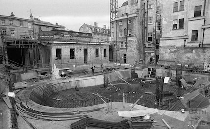 The construction site of the Thermae Bath Spa, 2 August, 2001