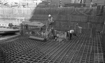 Preparing the Minerva Bath for concreting at Thermae Bath Spa, 25 August 2001