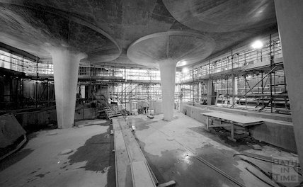 The steam room level taking shape at Thermae Bath Spa, 18 February 2002