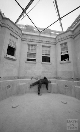 Preparing the Hot Bath at Thermae Bath Spa, 18 February 2002