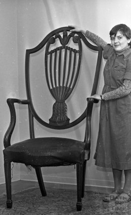 The chair of the Irish Giant - Aldridges 1977