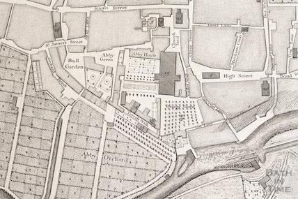 John Wood's map of Bath 1735 - detail