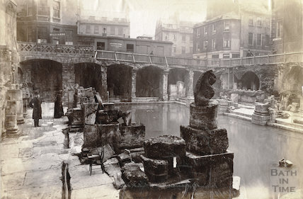 The newly discovered Roman Baths, Bath 1890