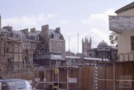 Grove Street Caxton Court development, Bathwick, Aug 1978
