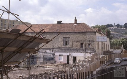 Grove Street Caxton Court development, Bathwick, Aug 1978
