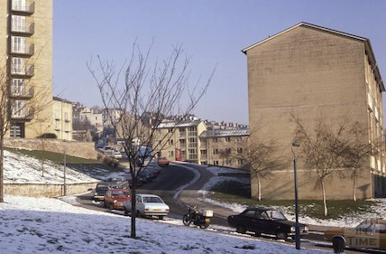Snow Hill in snow, Feb 1979