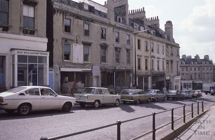 Looking towards Fountains Buildings, Lansdown Hill, May 1979