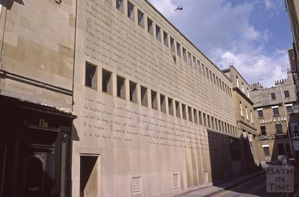 Magna Carta on the wall of the Bonhams Auction House, John Street, May 1979
