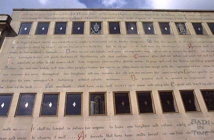 Magna Carta on the wall of the Bonhams Auction House, John Street, May 1979