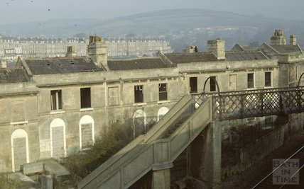 Hampton Row, Bathwick, March 1980