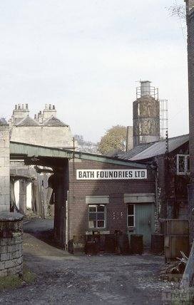 Bath Foundries, Beehive Yard, Walcot Street, Bath, Nov 1980
