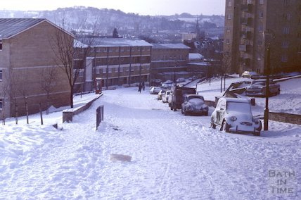 Snow Hill in snow, Feb 1982