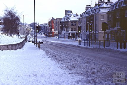 London Road in snow, Feb 1982