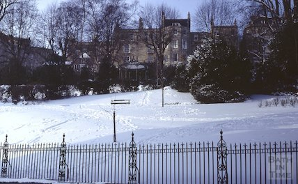 Henrietta Park, Walcot in snow, Feb 1982
