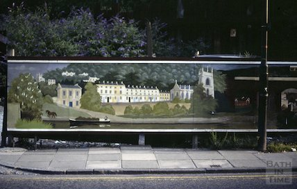 Hoardings, Claverton Street, Widcombe, Oct 1982