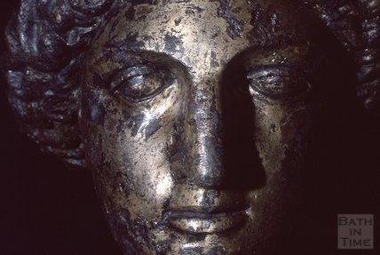 Minerva's Head, Roman Baths, March 1983