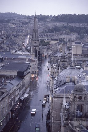 View from the Tower of Bath Abbey, June 1985