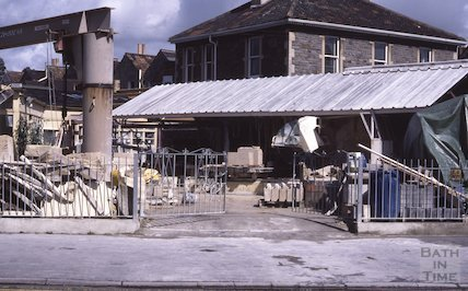 Stonemason's yard, Upper Bristol Road, Aug 1985