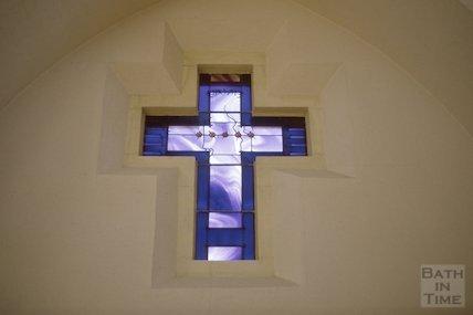 New window, St Bartholemew's Church, King Edward Road, Oldfield Park, Dec 1986