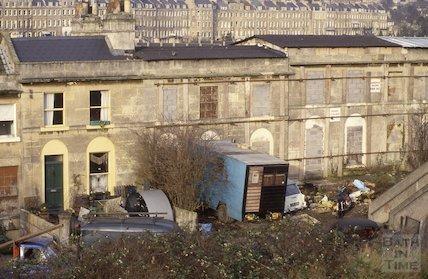 Hampton Row, Bathwick , Jan 1988