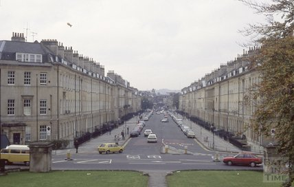Great Pulteney Street, Bath, Jan 1989