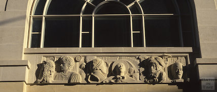 Carvings on the Podium Centre, Northgate Street, 1990