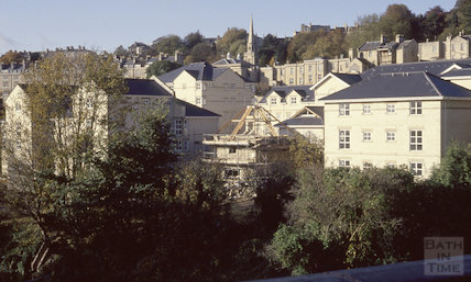 Walcot development from Cleveland Bridge, 1991