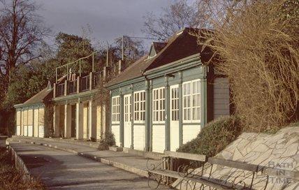 Bowls Pavilion before demolition, Royal Victoria Park, 1992