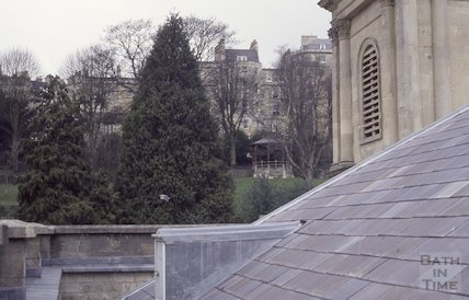 Hedgemead Park from the roof of St Swithin's Church, Walcot, 1992