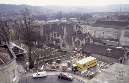 Walcot Burial Ground from the roof of St Swithin's Church, Walcot, 1992
