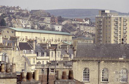 Walcot and Snow Hill from the roof of St Swithin's Church, Walcot, 1992