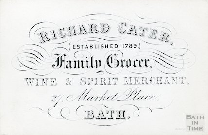 Trade Card for Richard Cater, Family Grocer